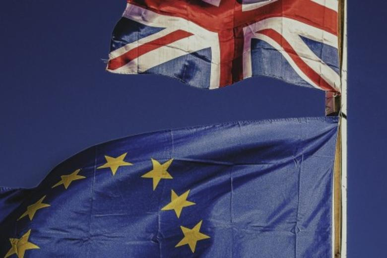 Image of EU and UK flags